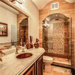 Warm Lighting Bathroom with Standing Shower