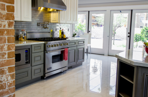 Hamilton Frost and Gun Metal with Distress Kitchen